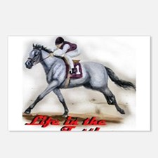 Race Horse, Life in the fastl Postcards (Package o