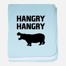Hangry Hangry Hippos baby blanket