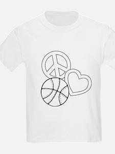 P,L,Basketball, white T-Shirt