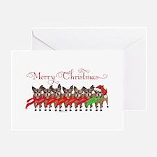 Christmas Chihuahuas Greeting Card