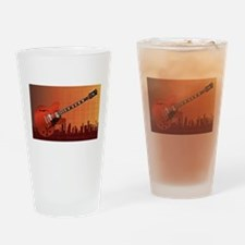 Grunge City Guitar Drinking Glass