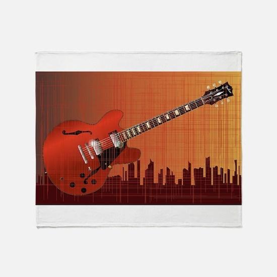 Grunge City Guitar Throw Blanket