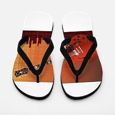 Grunge City Guitar Flip Flops