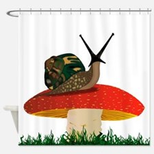 Rearing Snail Shower Curtain