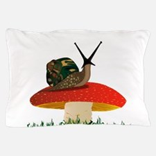 Rearing Snail Pillow Case