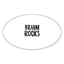 Brahm Rocks Oval Decal
