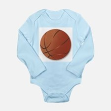 Basketball Over White Background Body Suit