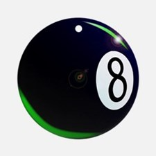 Eight Ball Round Ornament