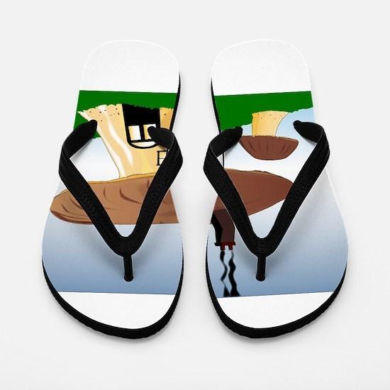 Fairy House Flip Flops