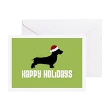 """W. Doxie """"Santa Hat"""" Greeting Cards (Pk of 10)"""
