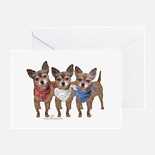 Patriotic Chihuahuas Greeting Card