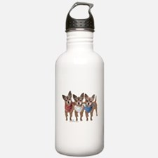 Patriotic Chihuahuas Water Bottle