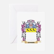Corbin Coat of Arms (Family Crest) Greeting Cards