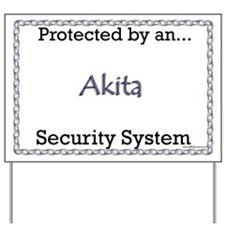 Akita Security Yard Sign
