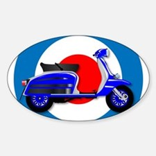60s Scooter and UK Symbol Decal