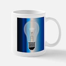 Blue Light Bulb Mugs