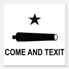 "Texas secede Square Car Magnet 3"" x 3"""