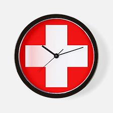 Swiss National Flag Wall Clock