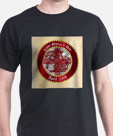 Saint Georges Day Button T-Shirt