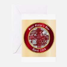 Saint Georges Day Button Greeting Cards