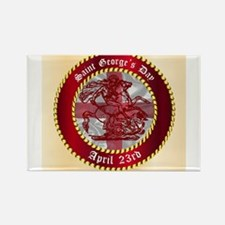 Saint Georges Day Button Magnets