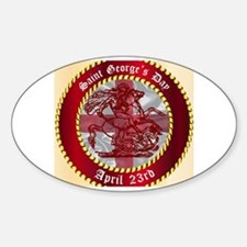 Saint Georges Day Button Decal