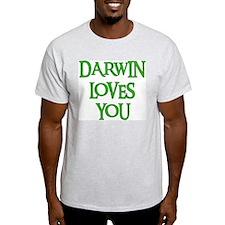Darwin Loves You Ash Grey T-Shirt