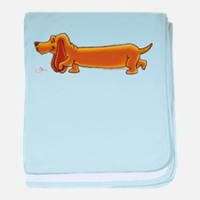 NEW! Weiner Dog baby blanket