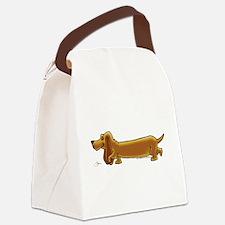 NEW! Weiner Dog Canvas Lunch Bag