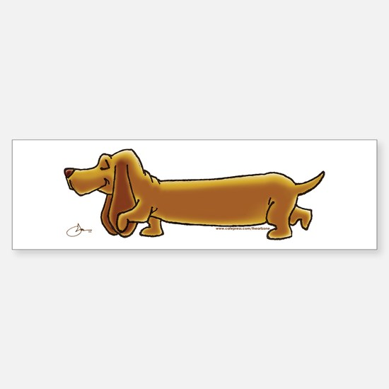 NEW! Weiner Dog Sticker (Bumper)