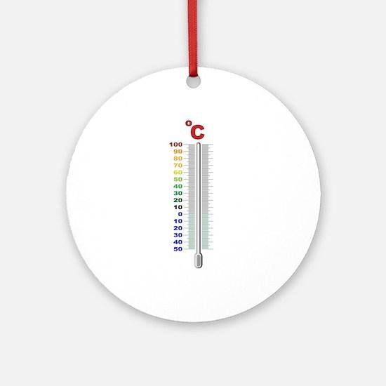 A Temperature Thermometer Round Ornament