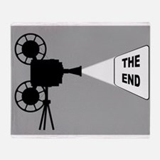 Movie Cine Projector The End Throw Blanket