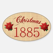 1885 Scrapbooking Christmas Oval Decal