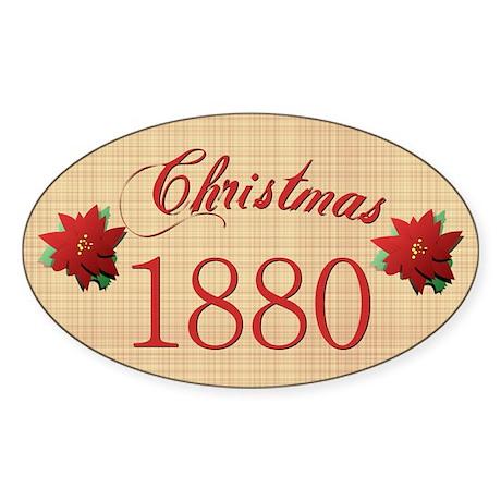 1880 Scrapbooking Christmas Oval Sticker
