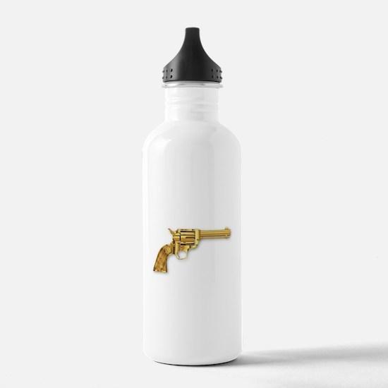 Golden Six Gun Water Bottle