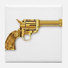 Golden Six Gun Tile Coaster