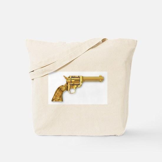 Golden Six Gun Tote Bag
