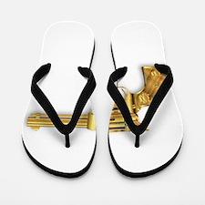 Golden Six Gun Flip Flops