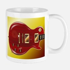 Red Grained Guitar Mugs