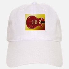 Red Grained Guitar Baseball Baseball Cap