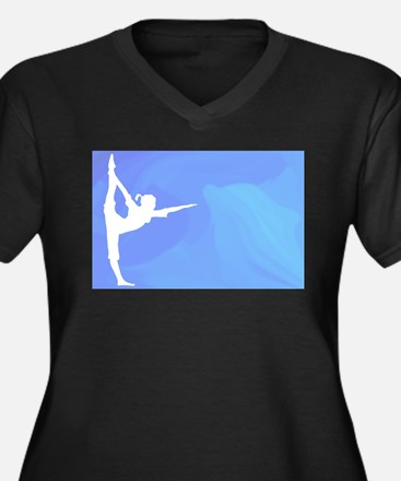 Ocean Yoga Scene With Dolphin Plus Size T-Shirt