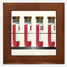 Blood Group Samples Framed Tile