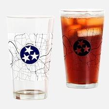 Cute Nashville tennessee Drinking Glass