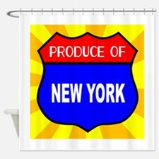 Produce Of New York Shield Shower Curtain