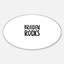 Braiden Rocks Oval Decal
