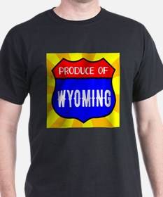 Produce Of Wyoming Shield T-Shirt