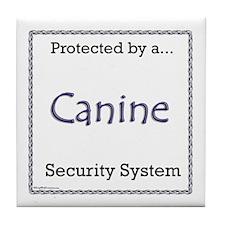 Dog Security Tile Coaster