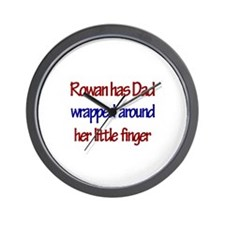 Rowan Has Dad Wrapped Around Wall Clock