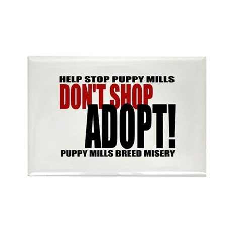 Don't Shop, Adopt - Rectangle Magnet (10 pack)
