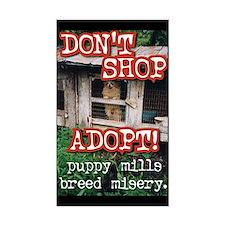 Don't Shop, Adopt Sticker (Rectangular